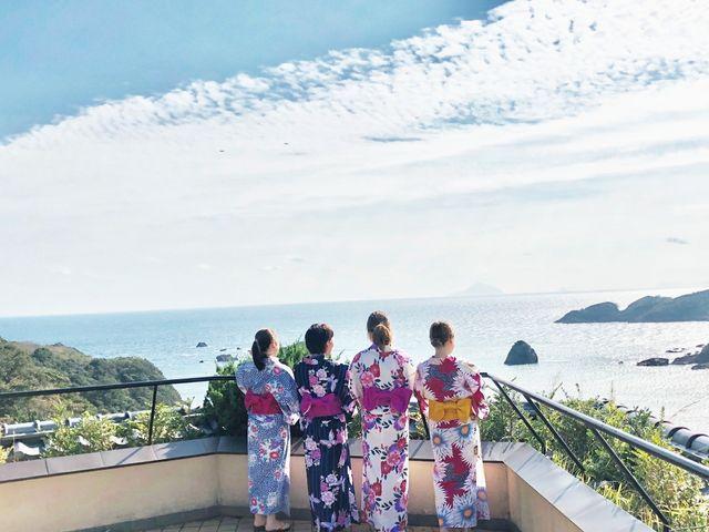 晴れた日には伊豆の島々を一望。_下田ビューホテル