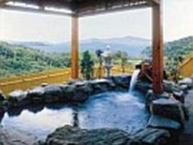 貸切露天とは別にある大浴場内の露天風呂「天泉の湯」_芭新萃~はなしんすい~