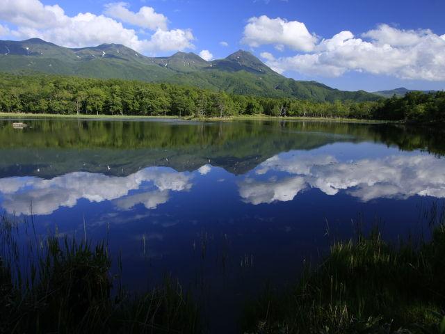 お天気の良い日は知床五湖に知床連山が映り込む。_(株)知床ネイチャーオフィス