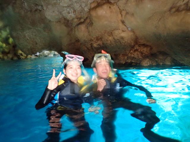 これが青の洞窟!_青の洞窟 Dive きよら