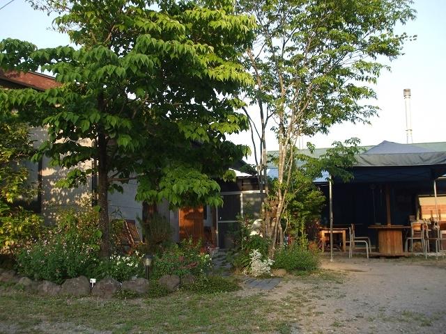 樹木に囲まれてたたずむ森の小さなカフェ_陶芸 榛名の麓