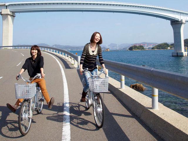 レンタサイクルで島内一周!_i+Land nagasaki