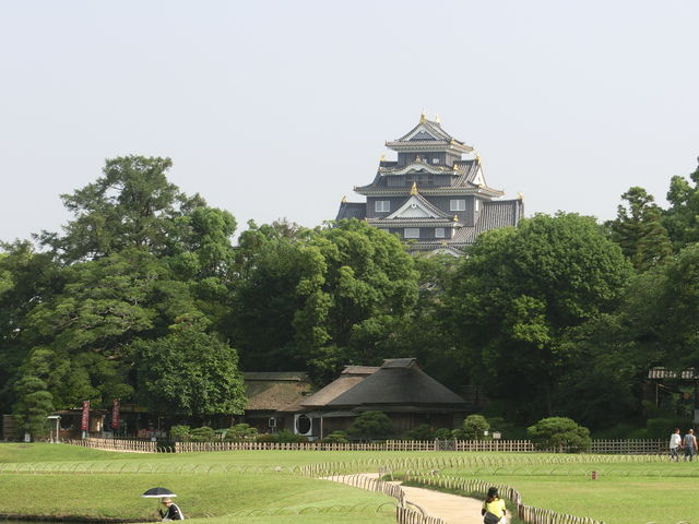 後楽園から_岡山城