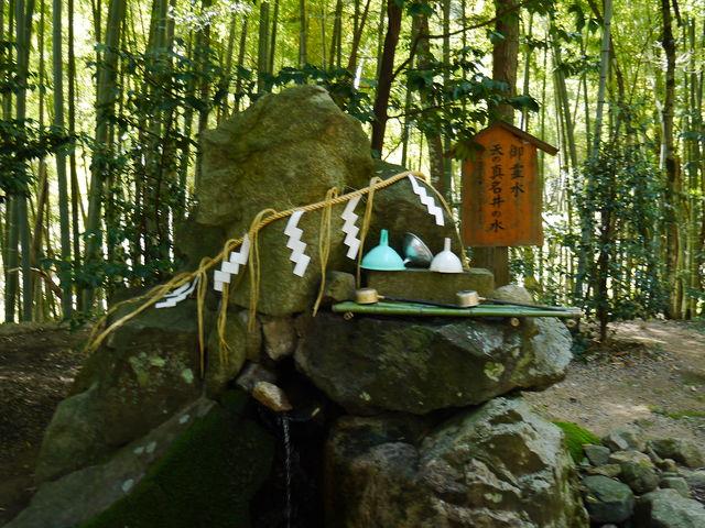 真名井の霊水をペットボトルに汲んできました。_真名井神社