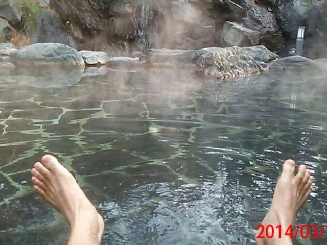 五浦観光ホテル本館の露天風呂です。_五浦温泉