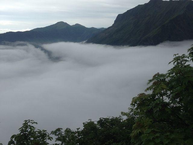 天神平からみた雲海_谷川岳ロープウェイ