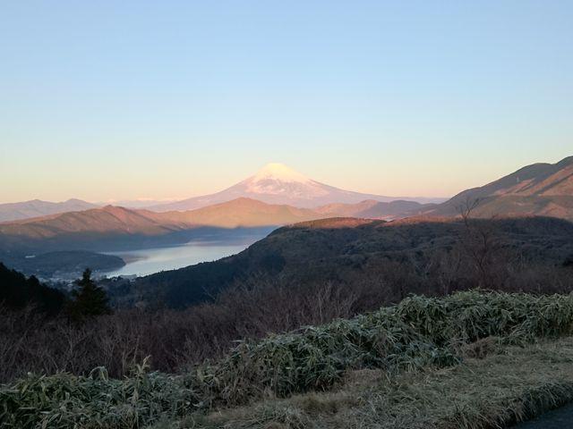 大観山からの初富士(富士山)4_大観山