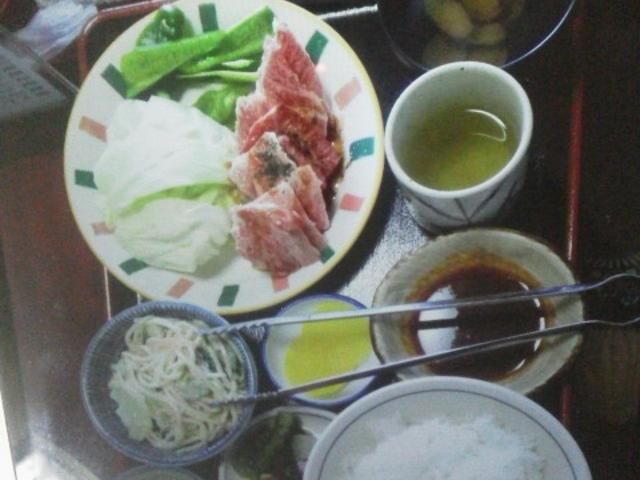 カルビ定食_萩の茶屋
