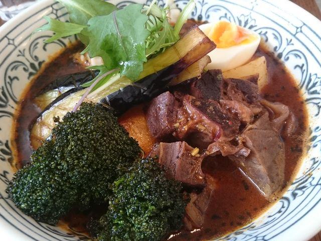 期間限定「道産牛肉ほほ肉のスープカレー」_札幌らっきょ 琴似店
