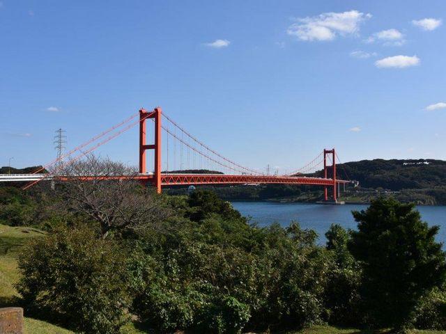 平戸公園からの平戸大橋_平戸大橋