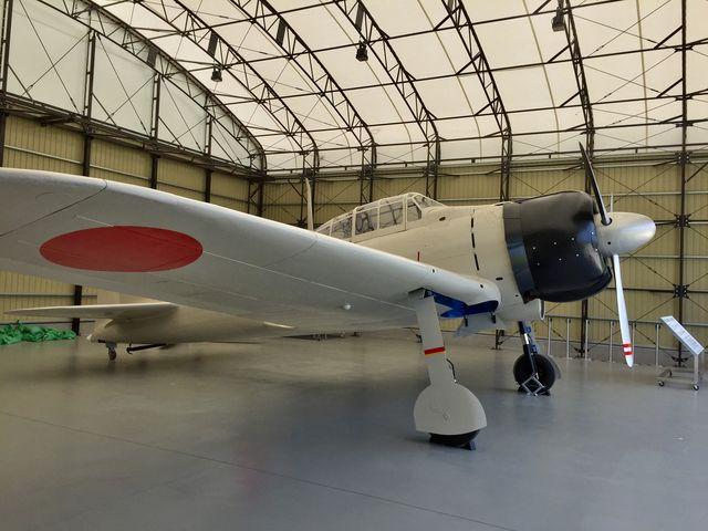 零式艦上戦闘機二一型の実物大模型。まだ展示から2年。思っていた以上に大きかった。_予科練平和記念館