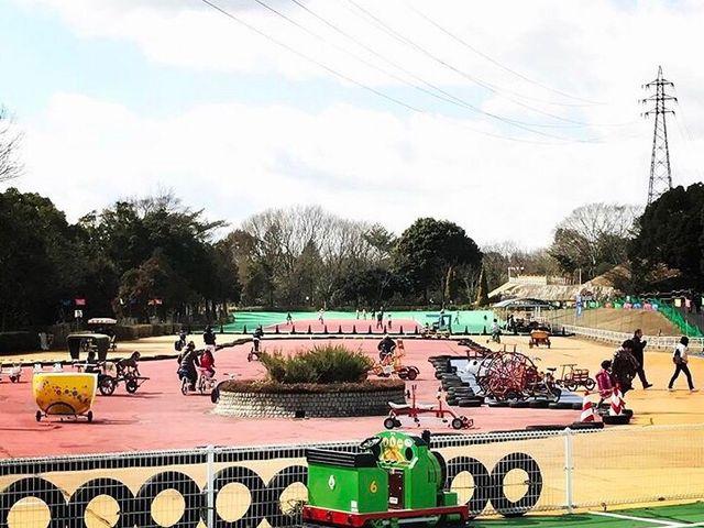 自転車がたくさん_播磨中央公園ふじいでんこうさいくるらんど