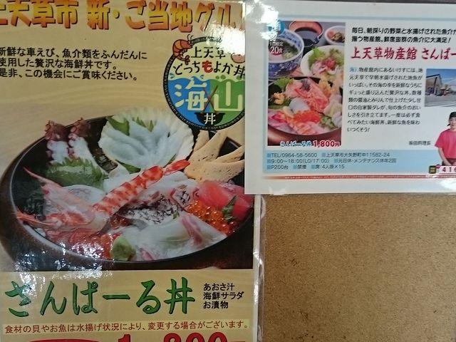 新鮮な海鮮丼が美味しい_道の駅 上天草さんぱーる