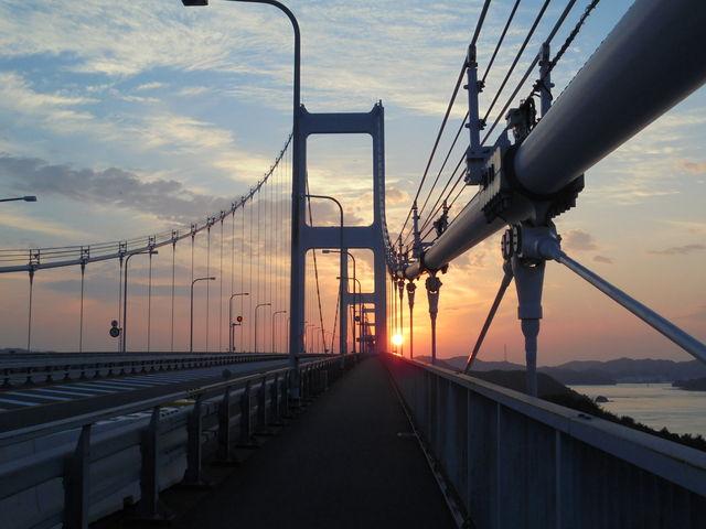 来島海峡大橋からの夕景_瀬戸内しまなみ海道