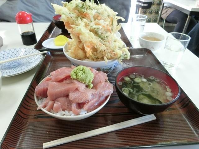 超大盛りのまぐろ丼とかきあげ丼_鶴亀屋食堂