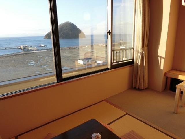 客室から見た浅虫海岸_浅虫海岸
