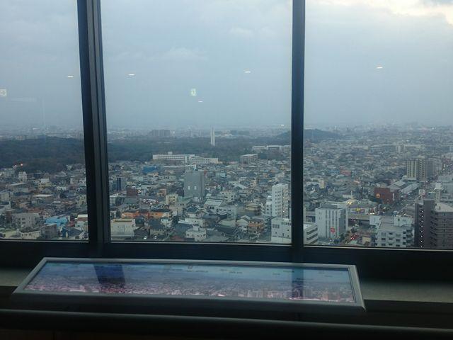 仁徳天皇陵がみえます_堺市役所21階展望ロビー