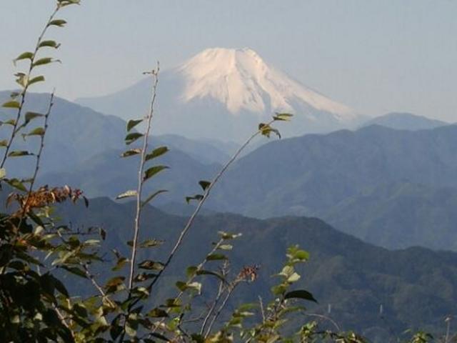 今回初めて富士山を拝むことができ、しかも初冠雪の富士山だったので、最高の山登りでした。_高尾山