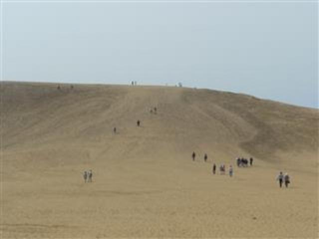 ここから頂上を目指して・・・_鳥取砂丘リフト
