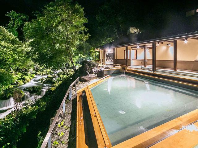 蓼科グランドホテル滝の湯の【棚湯】が2016年9月にリニューアルしてより快適に!_蓼科温泉共同浴場