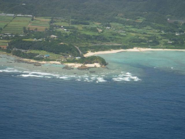 飛行機から見たあやまる岬観光公園_あやまる岬観光公園