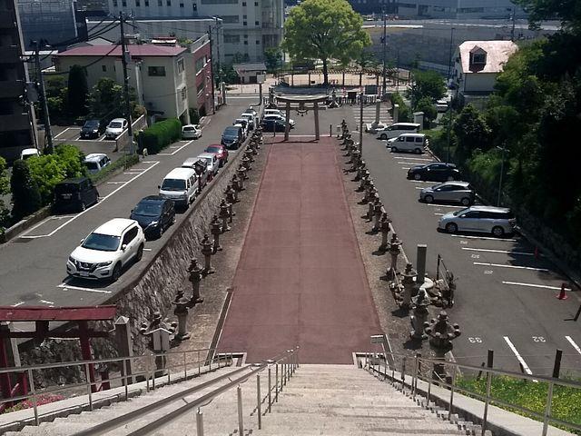 足がすくむ高さ _広島東照宮
