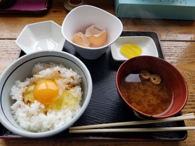 黄福定食(たまごかけごはん) ¥350_食堂かめっち。