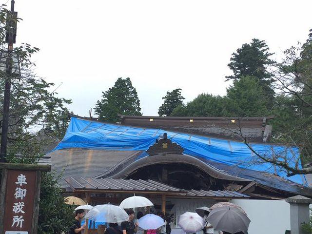 2016年4月熊本地震で壊れた阿蘇神社②_阿蘇神社楼門(二層楼山門式)