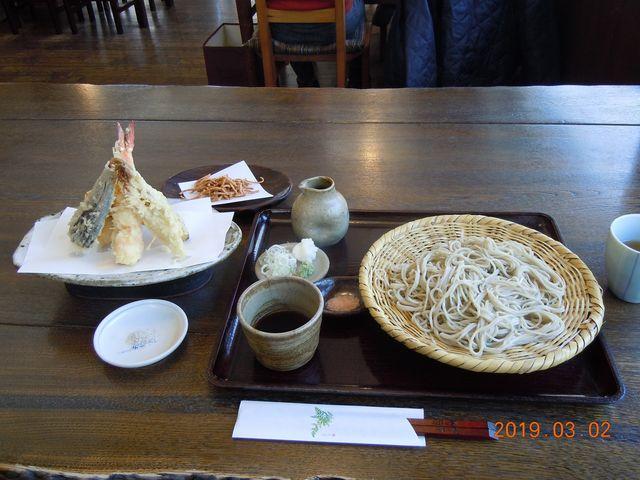 十割そばと天ぷら5品_蕎麦処 そばの実