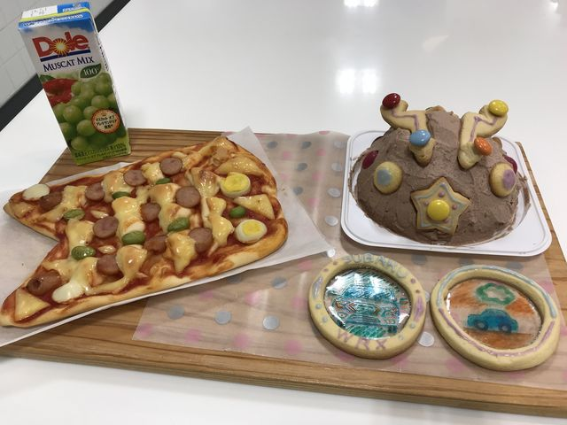 ケーキとクッキーは、お土産に。 しっかり冷やして いただきました。_チャイルドキッチン