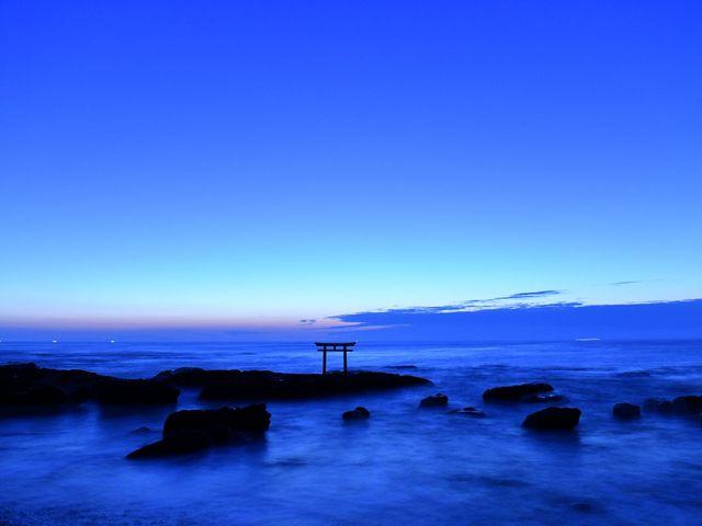 神磯の鳥居_大洗海岸