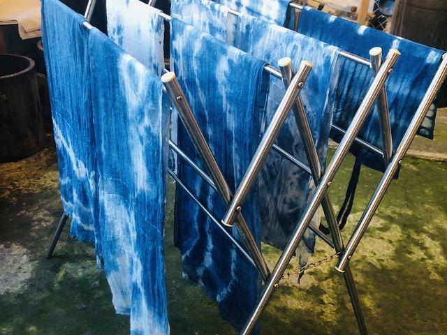 出来上がりの藍染ちゃん達_藍染め草木染体験工房 棉屋