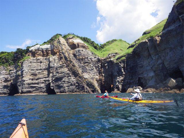 この景色が湾のすぐ近くにあります_弓ヶ浜カヌースクール