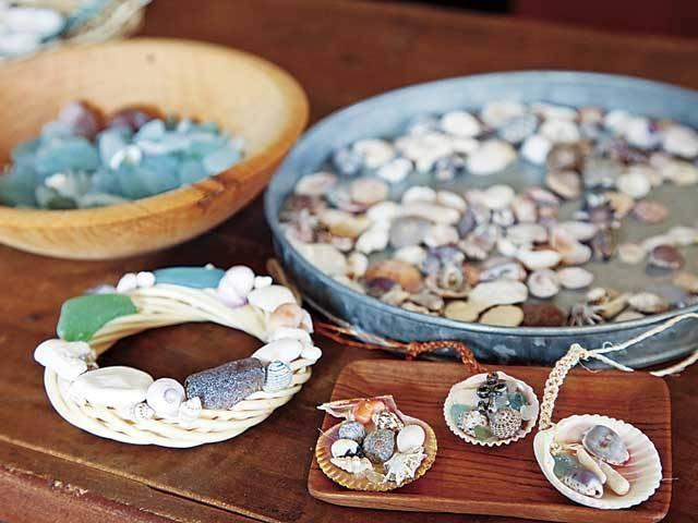 貝殻やシーグラスを自由に使って制作_ISLAND(アイランド)