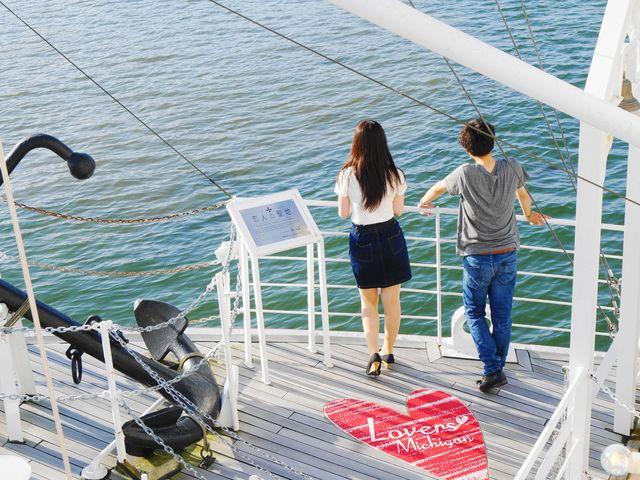 「恋人の聖地」サテライトに認定されているミシガンでの船上デートはいかがでしょうか。_ミシガンクルーズ(琵琶湖汽船)