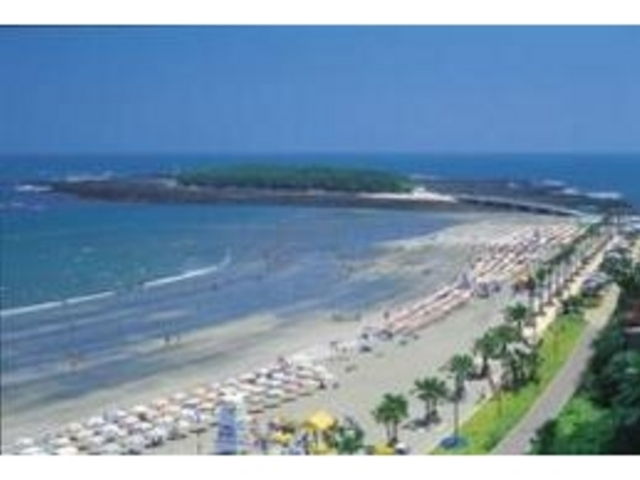 青島ビーチ 夏は南側…海水浴場 グランドホテル前より北側はサーフィンエリア_ナギサストア