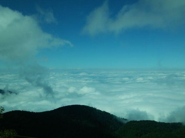 バスからの雲海_乗鞍岳