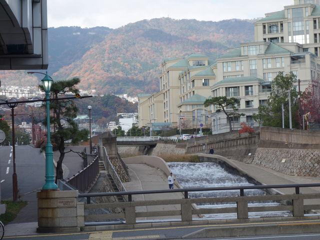 JR住吉駅の近くから撮影_住吉川清流の道