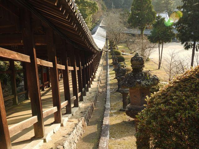 回廊からのルート_吉備津神社