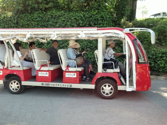 【ときわ公園】電気自動車(電気小型バス)_ときわ公園