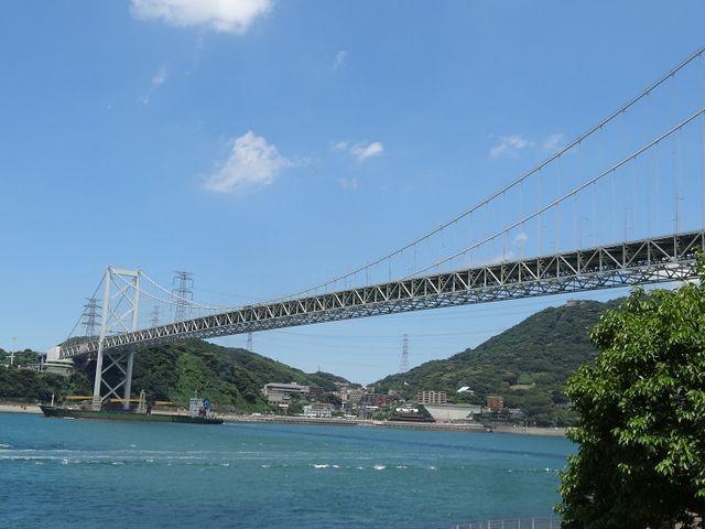 関門橋がここに架かります_関門海峡(早鞆ノ瀬戸)