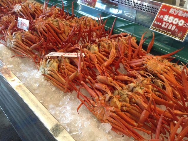 万代島鮮魚センターで売られてる蟹!_にぎわい市場 ピアBandai