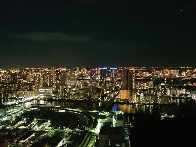 46階からの夜景です。_カレッタ汐留 46階展望スペース