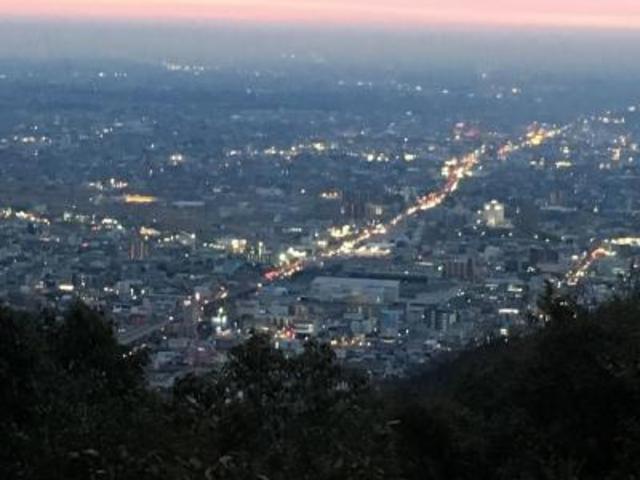 ロープウェイからの岐阜市街の景色。_ぎふ金華山ロープウェー