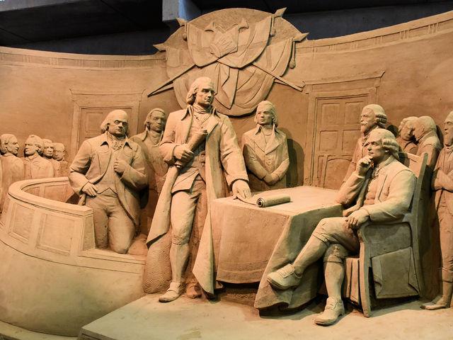 アメリカ独立宣言_鳥取砂丘 砂の美術館