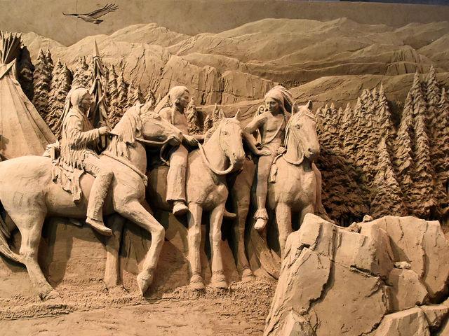 ネイティブアメリカン_鳥取砂丘 砂の美術館