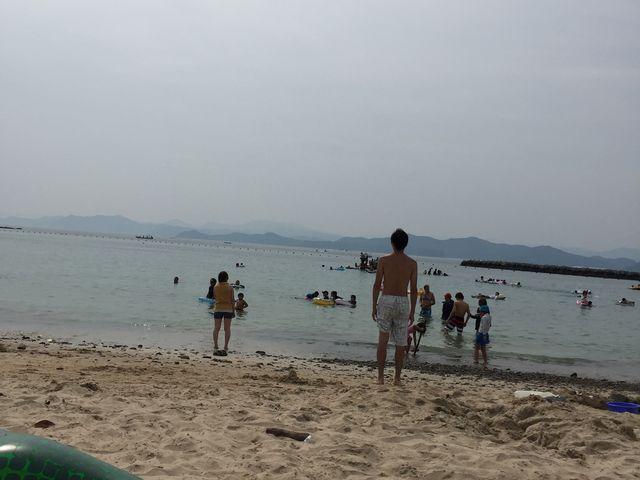 なかなか綺麗なビーチです。_御座白浜海水浴場
