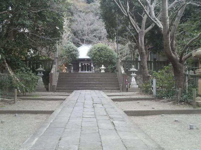 拝殿がみえてきました_高来神社