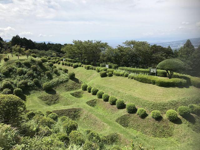 障子堀_山中城跡公園
