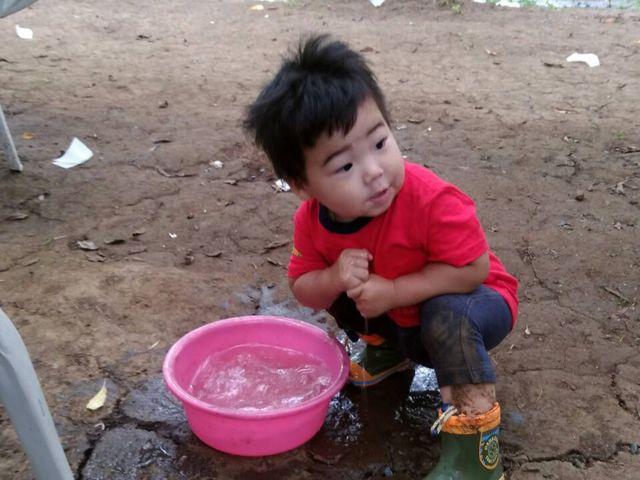 プラムより水遊び(笑)_宿沢フルーツ農園